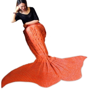 mermaid blanket orange color