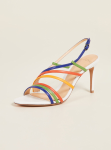 Alexandre Birman Strappy 75mm Sandals - Kiwi/Sunflower/White